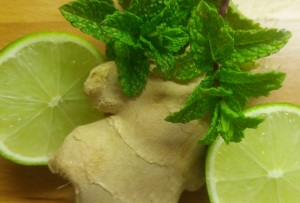 mint, lime ginger